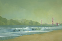 Golden Gate, 9″x12″, Oil